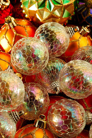 christmas baubles iridescent christmas tree ornaments reflecting the colors of the rest of the baubles - Iridescent Christmas Tree Decorations