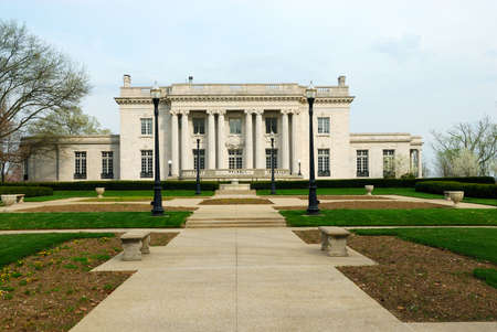 The Governors Mansion, Frankfort Kentucky, USA - the official residence of the people of the Commonwealth of Kentucky and is listed on the National Register of Historic Places. It sits on the east lawn of the State Capitol grounds on a bluff high above t