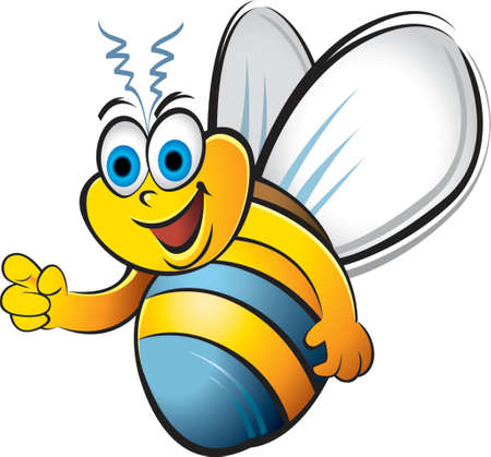 Humorous bee  イラスト・ベクター素材