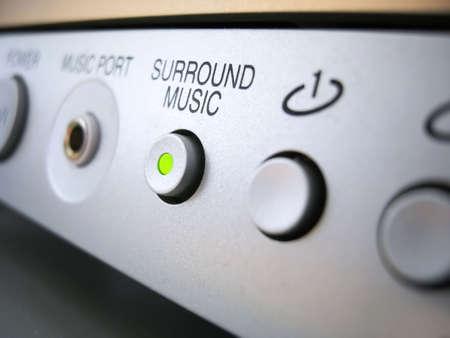 Surround music highlighted buttonin  Reklamní fotografie
