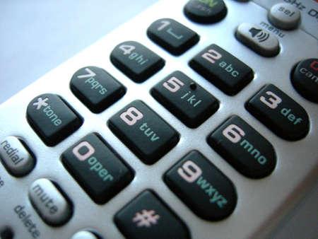 Plata tel�fono teclado con n�meros y letras Foto de archivo - 894840