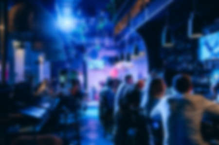 Background of a blurry restaurant. Party at the night concept