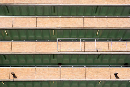 Rows and levels of a modern multi-storey car park