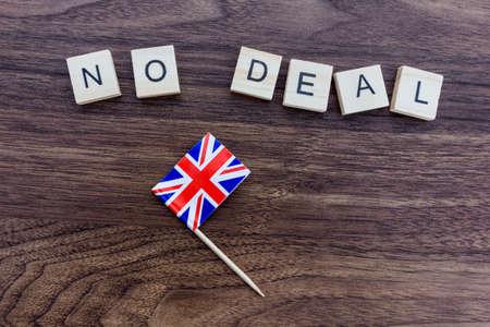 Brexit Concept - No Deal with Union Jack Flag