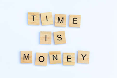 Text - Time is Money on a white background