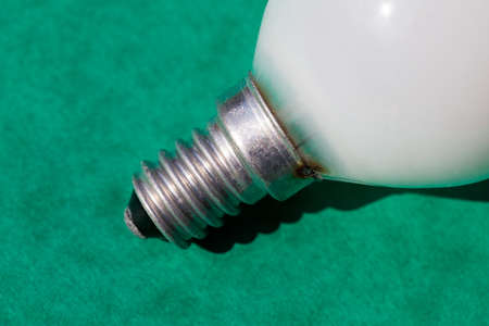 Close up of a light bulb with a screw cap fitting