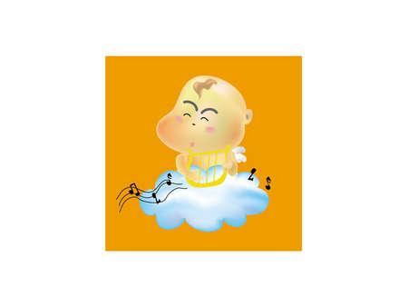 baby angel is singing Vector