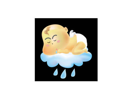 baby angel: baby angel sleeping cause to raining
