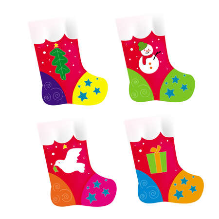 Vector, illustration, Christmas socking