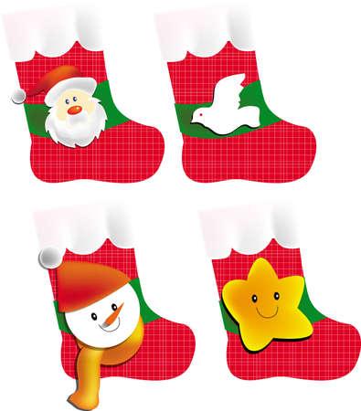 Vector, illustration, Christmas socking Vector