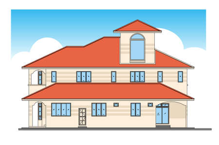 house - design in vector, illustration Stock Vector - 1896411