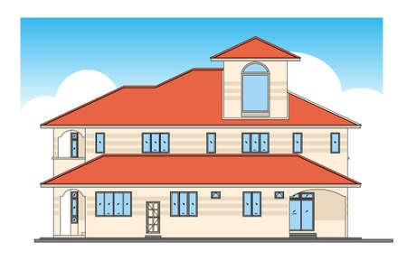 house - design in vector, illustration Stock Vector - 1896411