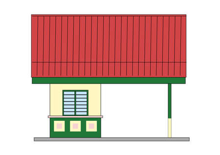 small house - design in vector, illustration Stock Vector - 1896416