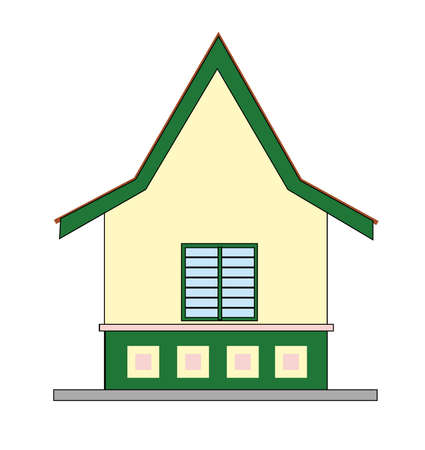 small house - design in vector, illustration Stock Vector - 1896407
