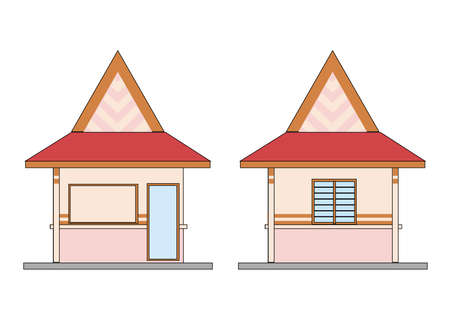small house - design in vector, illustration Stock Vector - 1896406