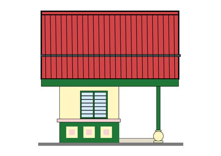 small house - design in vector, illustration Stock Vector - 1896405