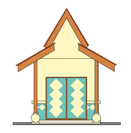 small house - design in vector, illustration Stock Vector - 1896404