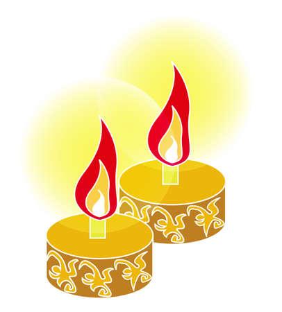 lampa naftowa: olej światło dla malay Hari Raya, wektor, ilustracja Ilustracja