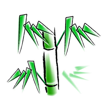 specially: bamboo, vector, illustration, specially for chinese new year, means growth, improve.