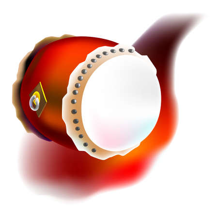 drum in vector, illustrator. one kind of music instrument for celebrate in chinese new year Illustration