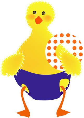 ducky: vector illustration for a ducky going to swim, fun and cute Illustration