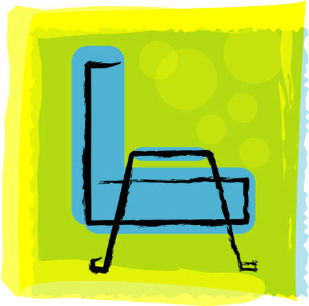 vector illustration for a artistic sofa, side view Vector