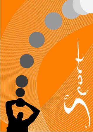 illustration, vector for a sport game background, basketball