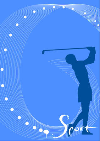illustration, vector for a sport game background, golf