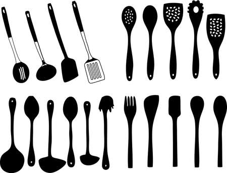 a vector, illustration for a variety of utensil, kitchen household