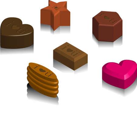 i love u: illustration vectorielle pour une vari�t� de chocolat avec I love u texte. Illustration
