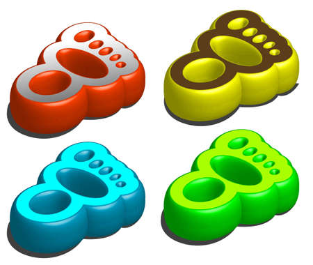 footstep: vector illustration for a set footstep icon