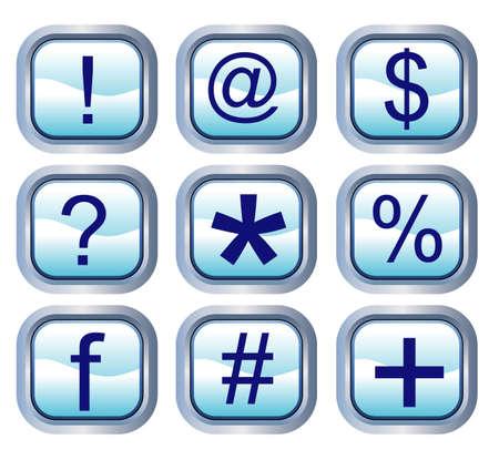 vector illustration for a set icon of computer icon, button Vector