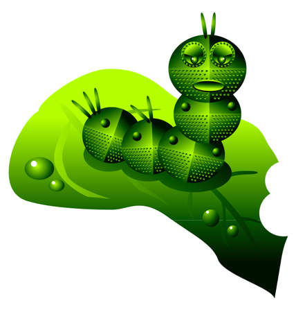 automaton: vector illustration for a robot caterpillar