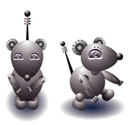 vector illustration for a robot rat  Vector