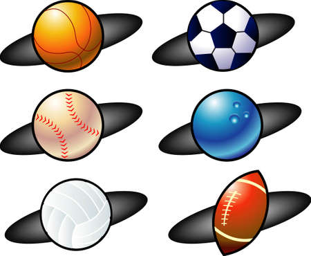 vector illustration for a variety of balls icon