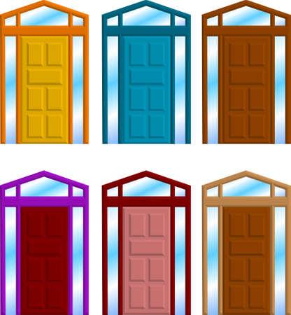 cartoon frame: una illustrazione vettoriale di un gruppo di telaio porta