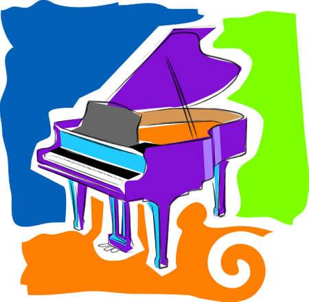 a vector, illustration icon design for a piano Vector