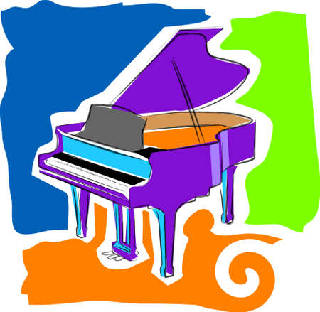 a vector, illustration icon design for a piano