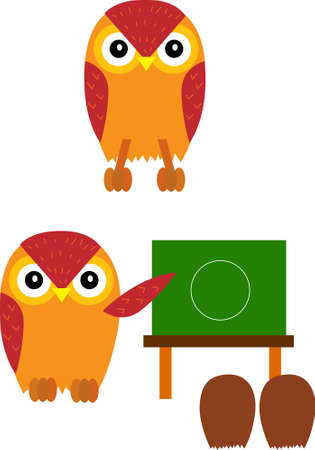 vector illustration for owl and teaching Vector