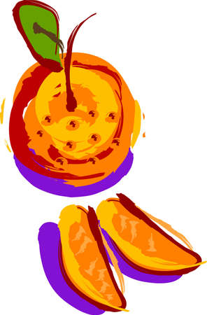 an abstract orange
