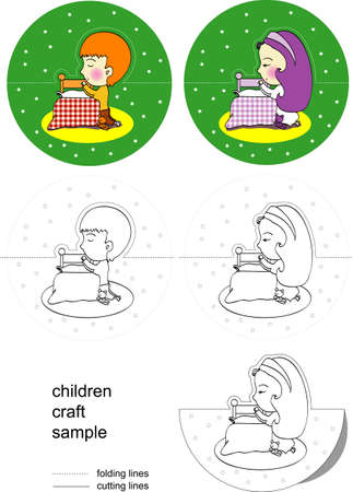 a project for children to doing craft for this Christmas. Vector