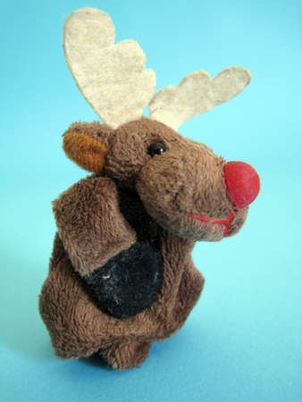 a reindeer soft toy photo