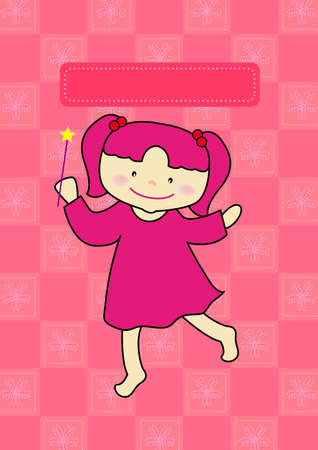 pinky: a little pinky girl get a magic stick to make a wish
