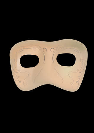 pretend: a beautiful mask isolated on black background.