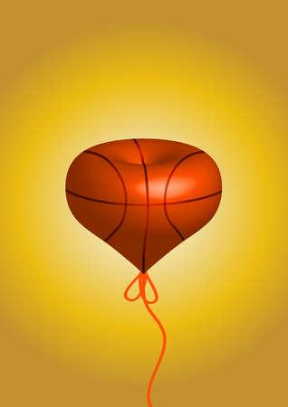 balon baloncesto: Una forma de amor s�lido de baloncesto. pasi�n de amor por el deporte.
