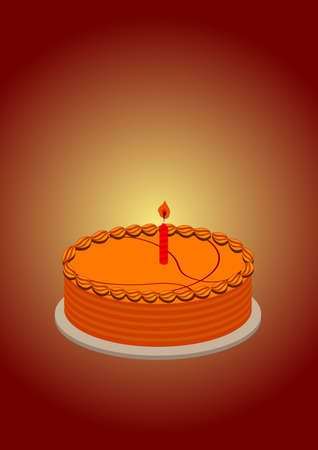 a basketball pattern shape of cake and a candle on it, passion love for sport. photo