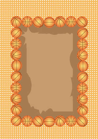 a beautiful frame for basket ball. you can put your words or picture on the center note. Stock Photo
