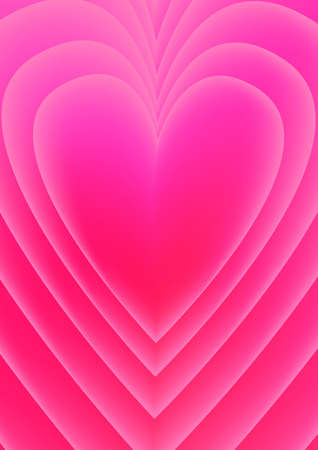 a render pink love shape background, suitable for romance, valentine, wedding.