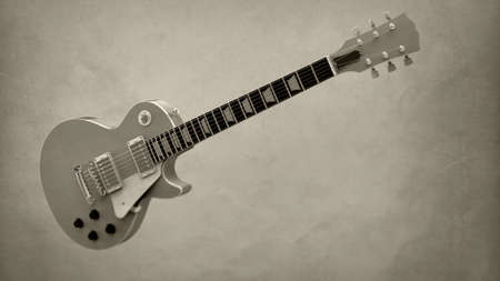 electric guitar on isolated background Stock Photo