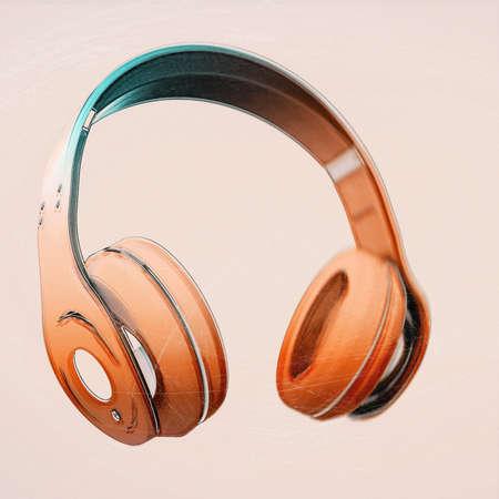 headphone on isolated background